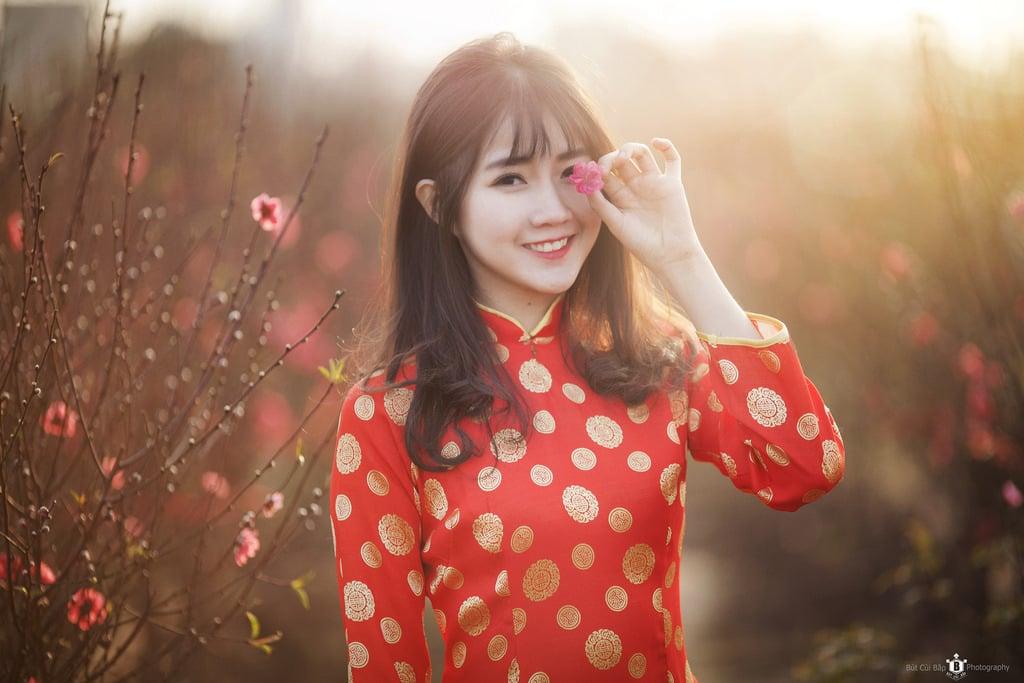 ảnh girl xinh mặc áo dài Việt Nam