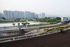 Khung cảnh trường đua ngựa ở Hong Kong