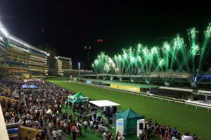 Hình ảnh trường đua ngựa Hong Kong lúc về đêm