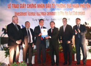 Lễ trao dự án trường đua ngựa phú yên